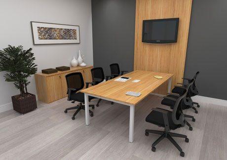 Mesa de Reunião Linha Plataforma - Mesas Para Reunião - Moveis para Escritorio SP
