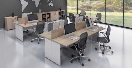Ilha de trabalho, estação de trabalho, bancada, móveis para escritório em SP
