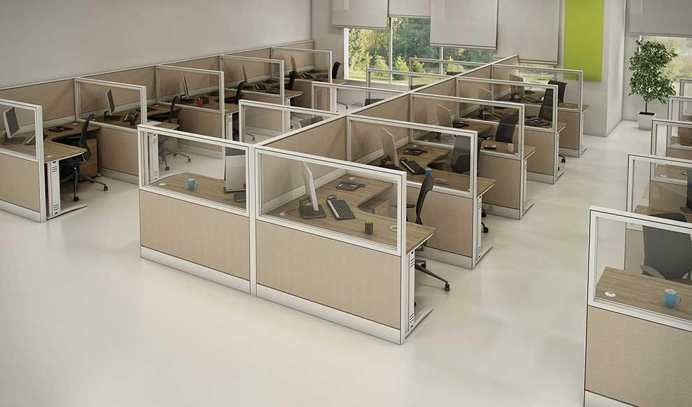 Estação de trabalho com biombo Roma Plus - Estação de trabalho top - Moveis para Escritorio SP
