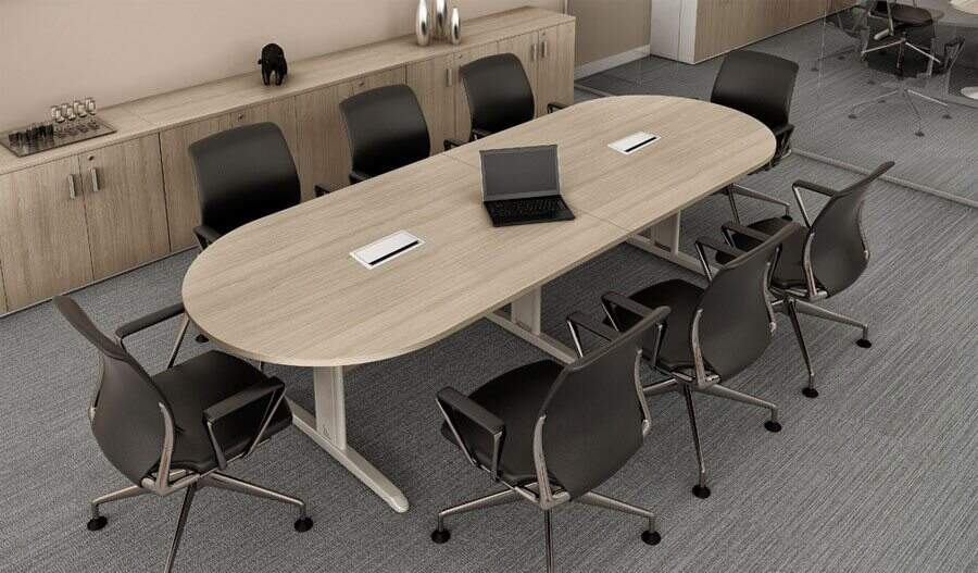 Mesa de reunião oval Roma Plus - Mesas Para Reunião - Moveis para Escritorio SP
