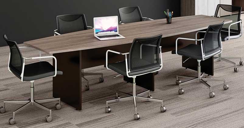 Mesa de reunião semi-oval PR 25mm - Mesas para Reunião - Moveis para Escritorio SP