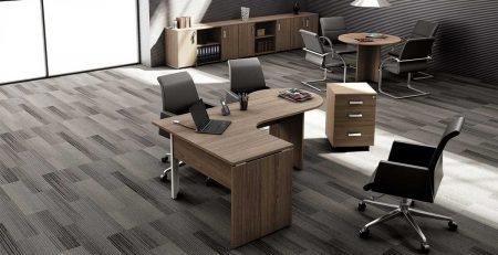 Mesa de escritório, mesa em L, mesa delta, móveis para escritório em SP