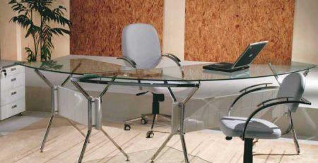 Mesa para escritório com tampo de vidro, móveis para escritório em SP