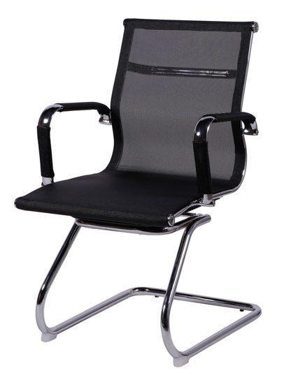 Cadeira fixa tela preta - Cadeira fixa/ visita - Moveis para Escritorio SP