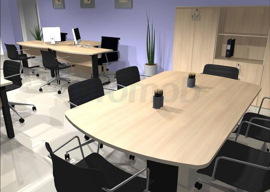 Móveis Planejados Para Escritório - Mesa reunião Ovalada