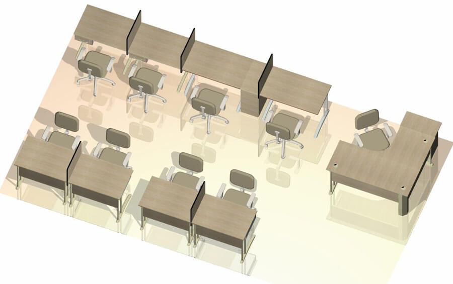 Móveis Planejados Para Escritório - Estações de trabalho