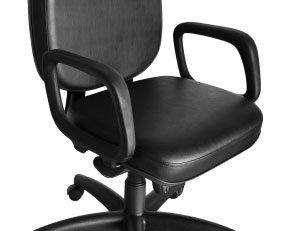 Cadeira Giratória Para Obesos - Lisa - Preta