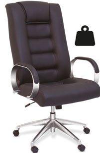 Cadeira para obesos lisa para até 160 kg - Cadeira Presidente - Moveis para Escritorio SP