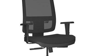 cadeira presidente tela com apoio de cabeça para escritorio