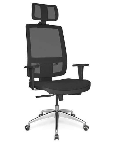 Cadeira Presidente Tela BR com Apoio de Cabeça - Cadeira Presidente - Moveis para Escritorio SP