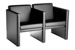 Sofá de 2 lugares, cadeiras de escritório, móveis para escritório sp