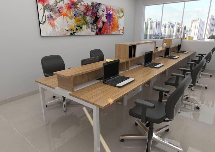 Mesas para escritório, móveis para escritório em SP