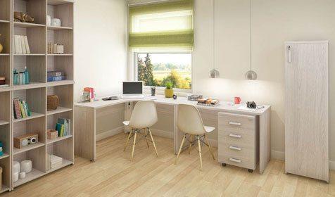 Home Office com estante para livros PR - _destaque - Moveis para Escritorio SP