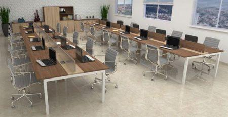 Mesa de escritório, estação de trabalho, móveis para escritório em SP