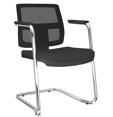 Cadeira Fixa Tela BR - Cadeira Fixa Visita - Moveis para Escritorio SP