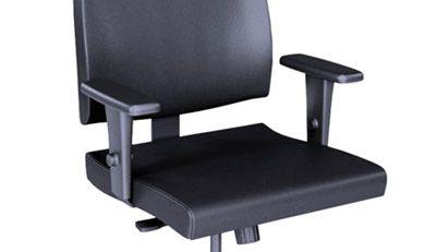 Cadeira Presidente Slim preta, cadeira presidente