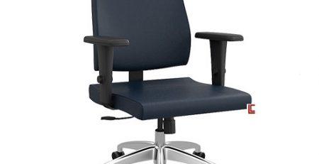 Cadeira Presidente Slim Preta, Cadeira Presidente SP