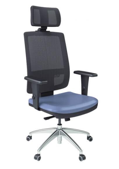 Cadeira presidente Tela BR com apoio de cabeça - _destaque - Moveis para Escritorio SP