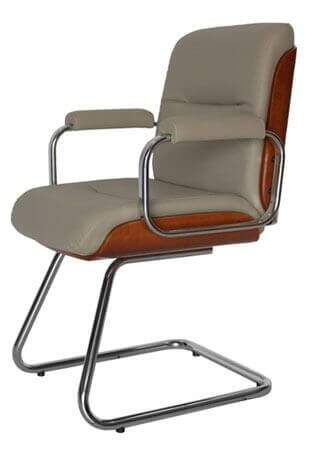 Cadeira Fixa Wood - Cadeira Fixa Visita - Moveis para Escritorio SP