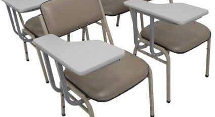 cadeira universitaria estofada, cadeira universitaria barata