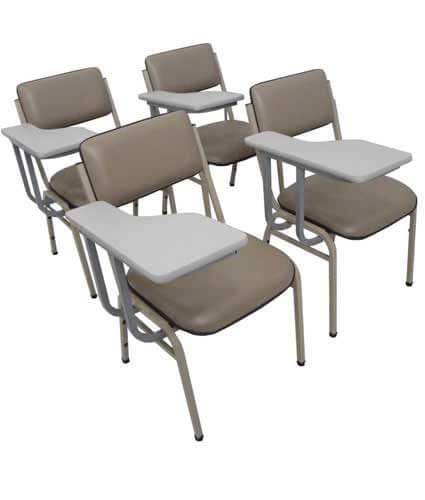 Cadeira universitária empilhável com prancheta - Cadeira empilhável - Moveis para Escritorio SP
