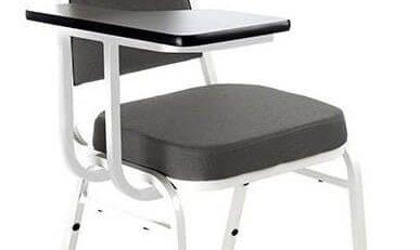 Cadeira Empilhável Estofada STH - Cinza