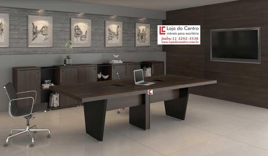 Mesa de Reunião Retangular 50mm - Mesas Para Reunião - Moveis para Escritorio SP