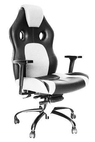 Cadeira Gamer Preto e Branco - Cadeira Gamer - Moveis para Escritorio SP