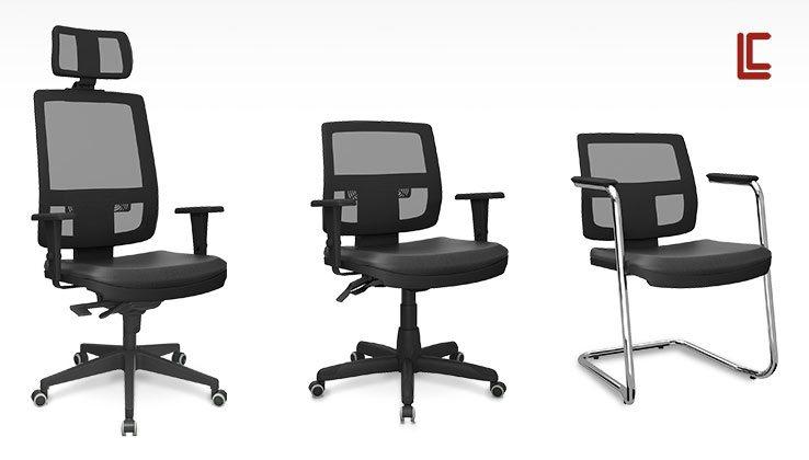 Cadeiras Tela BR - Destaque - Moveis para Escritorio SP