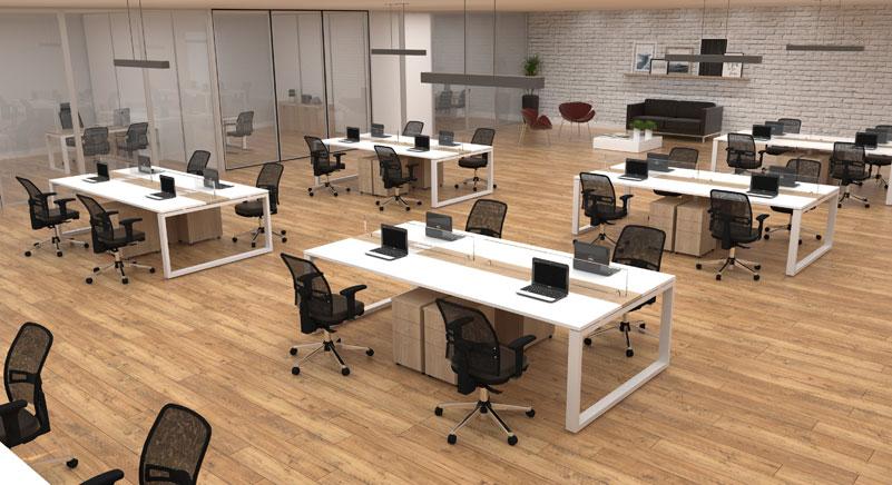 Mesa Plataforma Maxime Work - Destaque - Moveis para Escritorio SP