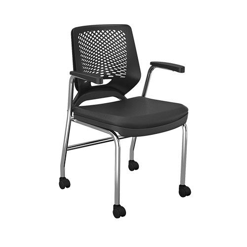 Cadeira 4 Pés com Rodízios - Cadeira Executiva Secretária - Moveis para Escritorio SP