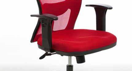 Cadeira Alta Tela Vermelha SP, Cadeira Tela Vermelha, Cadeira Tela Office SP