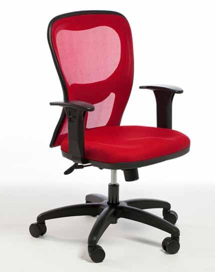 Cadeira Alta Tela Vermelha - Cadeira Para Computador - Moveis para Escritorio SP