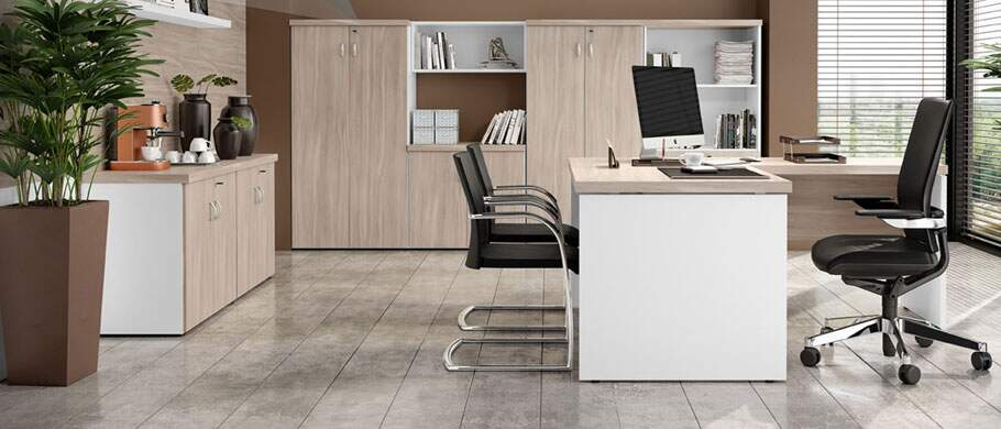Mesa em L 40mm - Destaque - Moveis para Escritorio SP