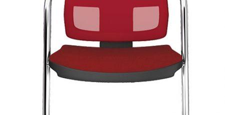 Cadeira fixa tela vermelha, cadeira para reunião