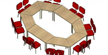 mesa de treinamento