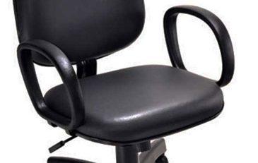 Cadeira diretor preta simples, cadeira diretor barata
