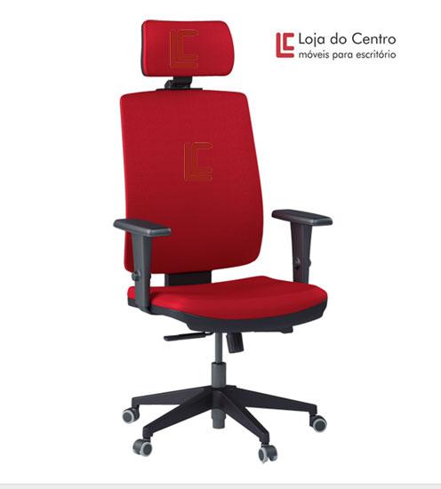 Cadeira Presidente com Apoio de Cabeça Sof - Cadeira Presidente - Moveis para Escritorio SP