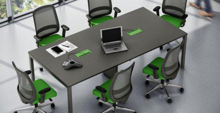 mesa de reuniao plataforma moderna, mesa de reuniao moderna
