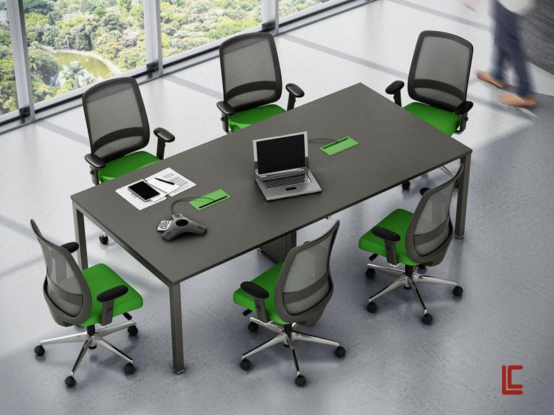 Mesa de Reunião Plataforma - Mesas Para Reunião - Moveis para Escritorio SP