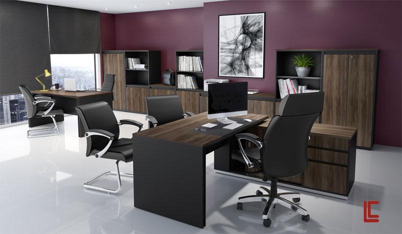 Mesa Diretor em L com Armário - _destaque-moveis-avulsos - Moveis para Escritorio SP
