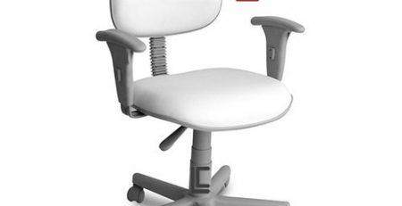 Cadeira Giratória Branca simples, Cadeira Giratória Branca de escritório
