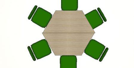 Mesa trapezoidal para treinamento, mesa trapézio, mesa para treinamento