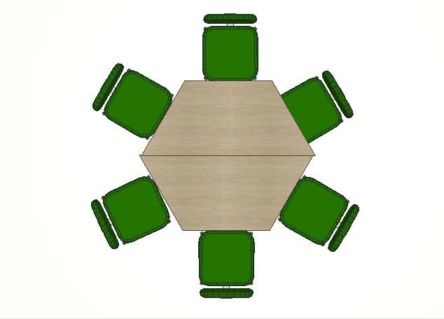 Mesa Trapezoidal para 6 pessoas - Mesas Para Reunião - Moveis para Escritorio SP