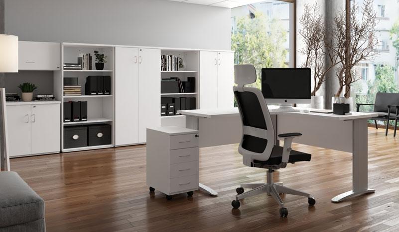 Mesa em L Uni - Destaque Mesas - Moveis para Escritorio SP