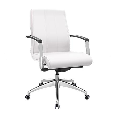 Cadeira Diretor Branca Premium - Cadeira Diretor Gerência - Moveis para Escritorio SP