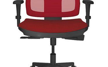 Cadeira Operativa Tela Colorida Vermelha, Cadeira Tela colorida, cadeira tela escritório, cadeira escritório sp