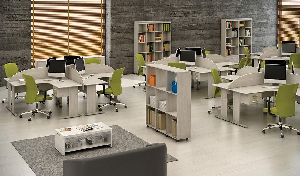 Estação de Trabalho 4 Pessoas Promoção - Destaque Mesas - Moveis para Escritorio SP