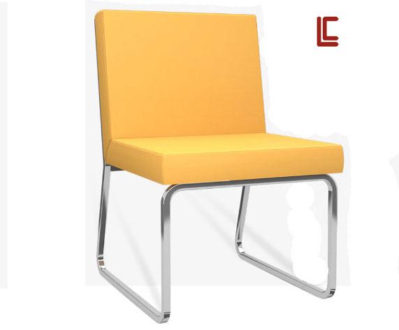 Sofá Design LC Cromo - Destaque Cadeiras - Moveis para Escritorio SP