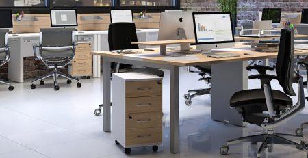 Mesa 4 Lugares com Gaveteiro duplo, Mesas para escritório sp
